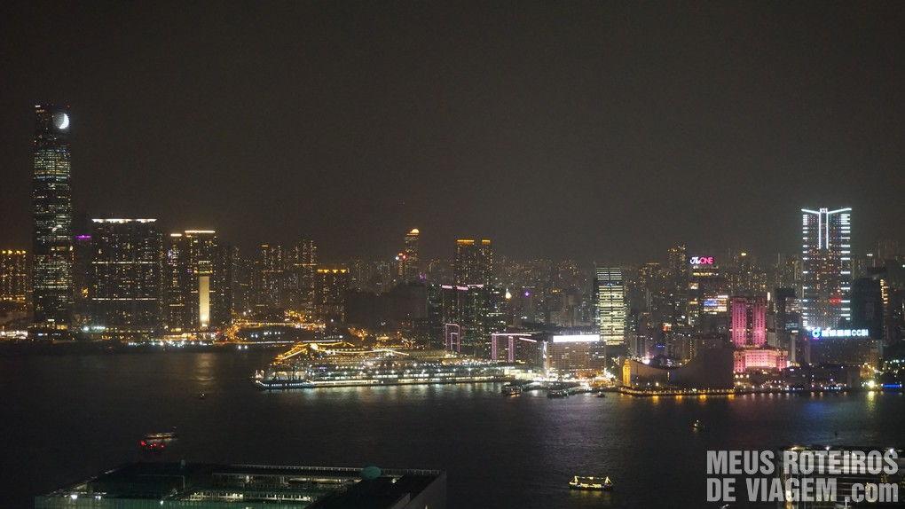 Vista do quarto no Hotel Conrad Hong Kong