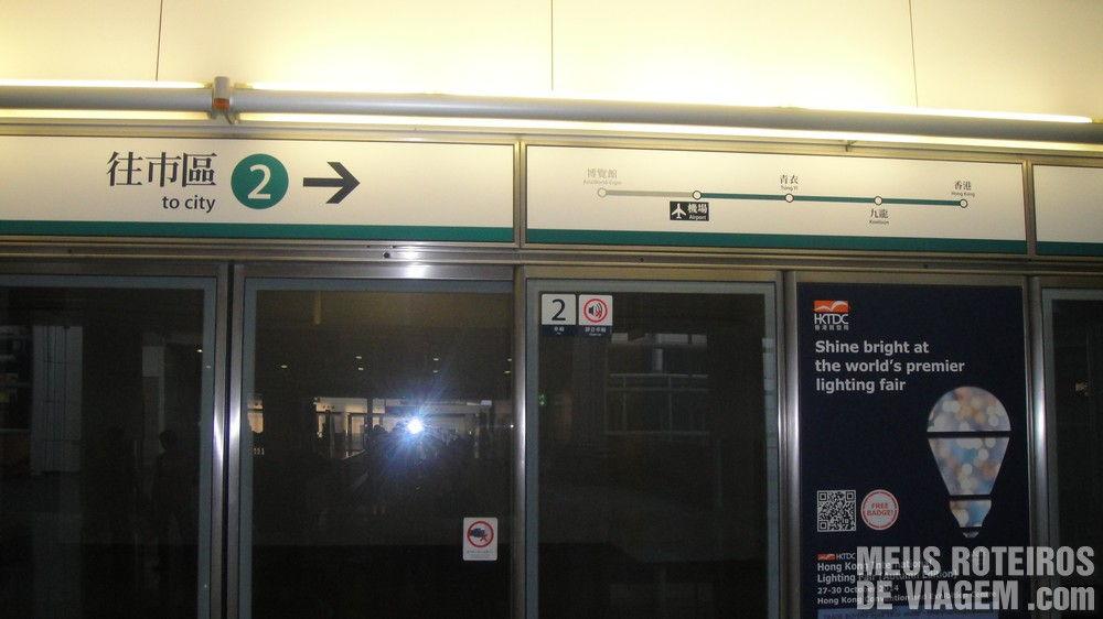Estação do Airport Express no Aeroporto de Hong Kong