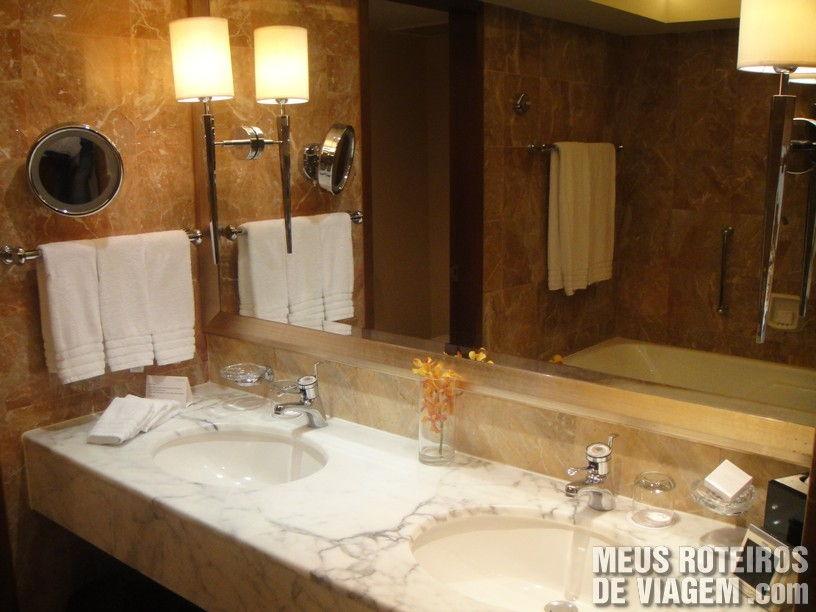 Banheiro no Hotel Conrad Hong Kong