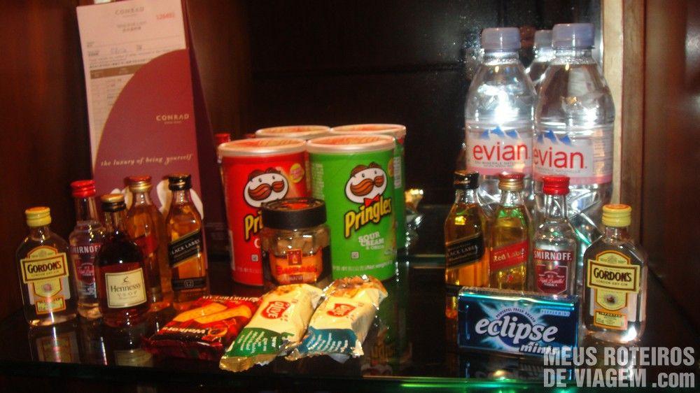 Bebidas e snacks a cobrar