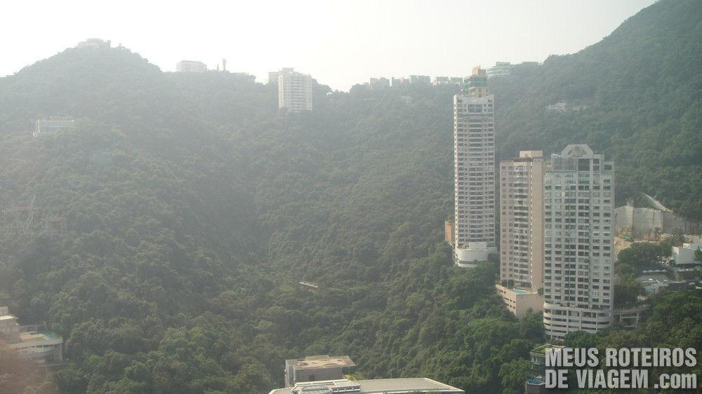 Vista do hotel para The Peak - Hotel Conrad Hong Kong