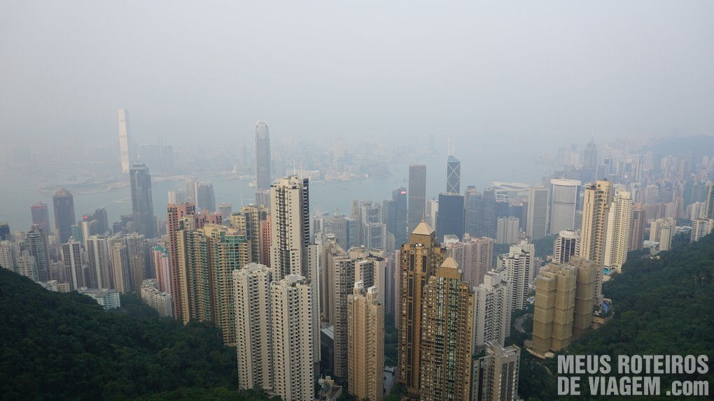 Hong Kong - vista do mirante no The Peak