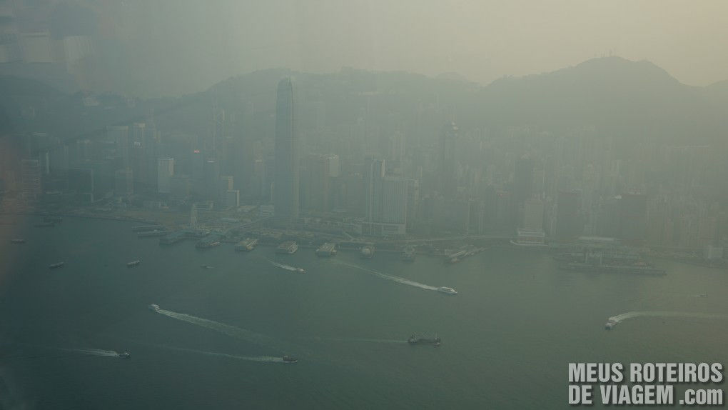 Edifícios na região central de Hong Kong - vista do sky100