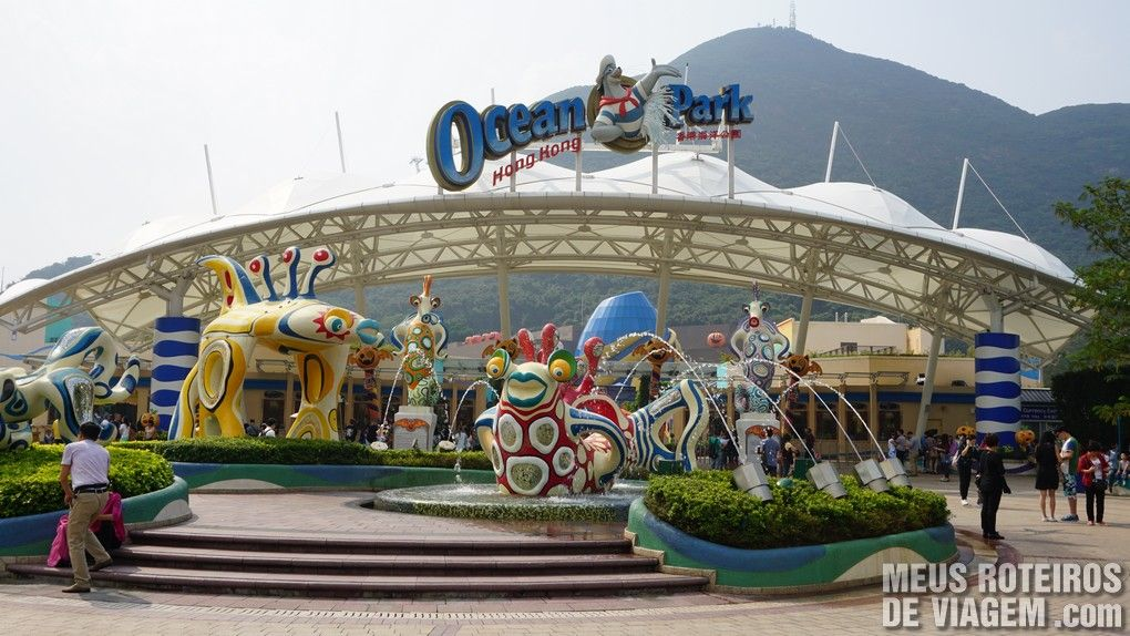 Entrada do Ocean Park - Hong Kong