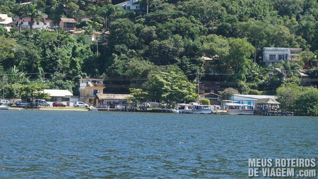 Terminal no Canto dos Araçás - início da Trilha para a Costa da Lagoa