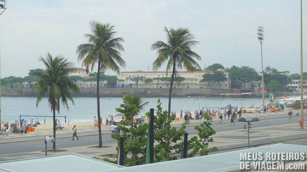 Vista do café da manhã no hotel Golden Tulip Regente - Rio de Janeiro