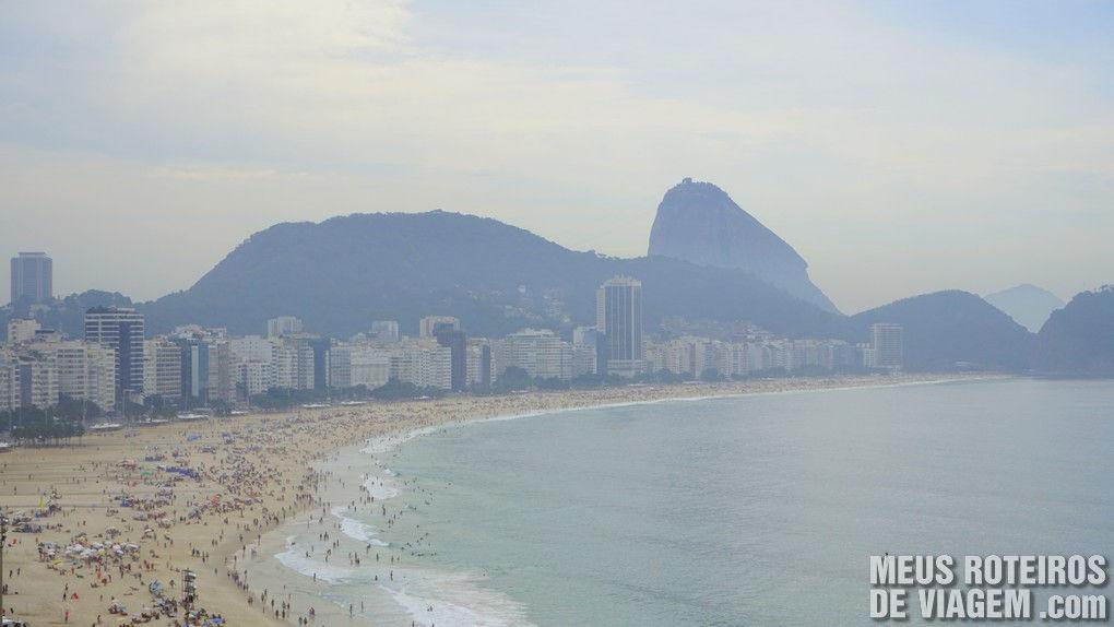 Praia de Copacabana vista do hotel Golden Tulip Regente - Rio de Janeiro