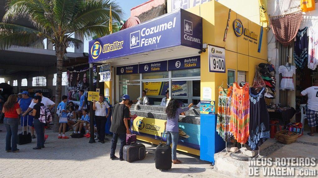 Loja de venda de passagens da Ultramar no terminal de Playa del Carmen - México