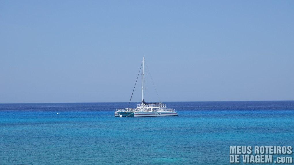 Barco a vela em Cozumel - México