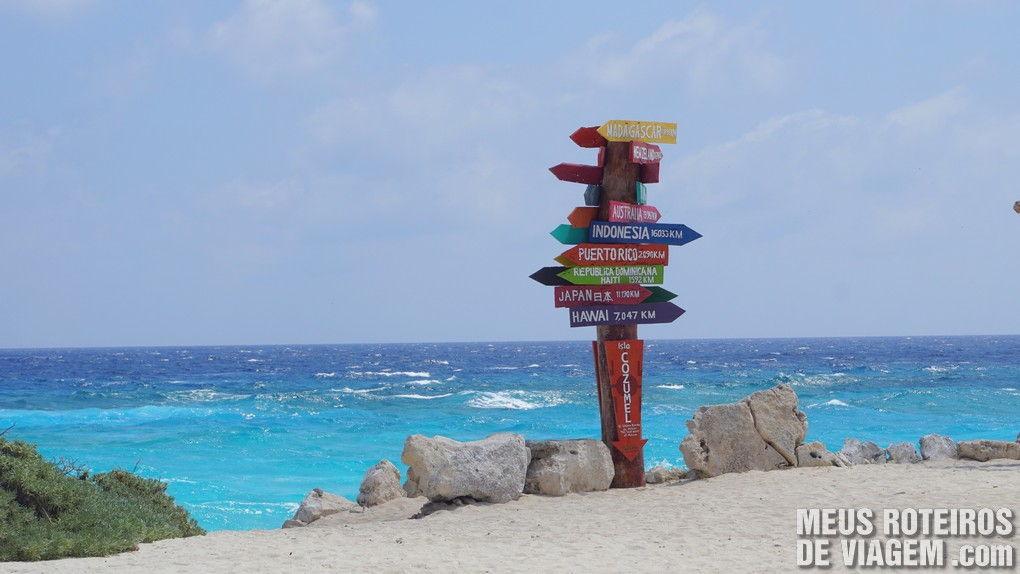 Praia no Parque Punta Sur - Cozumel, México