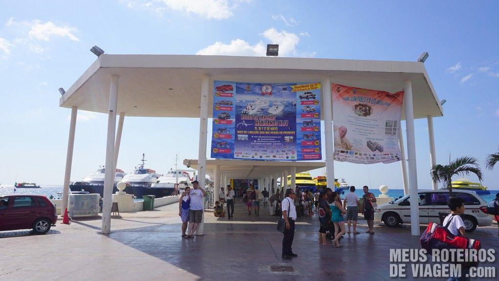 Terminal do ferry no centrinho de Cozumel - México