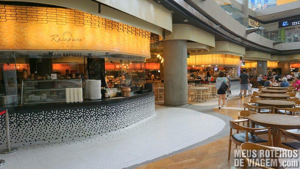 Praça de alimentação Rasapura no The Shoppes at Marina Bay