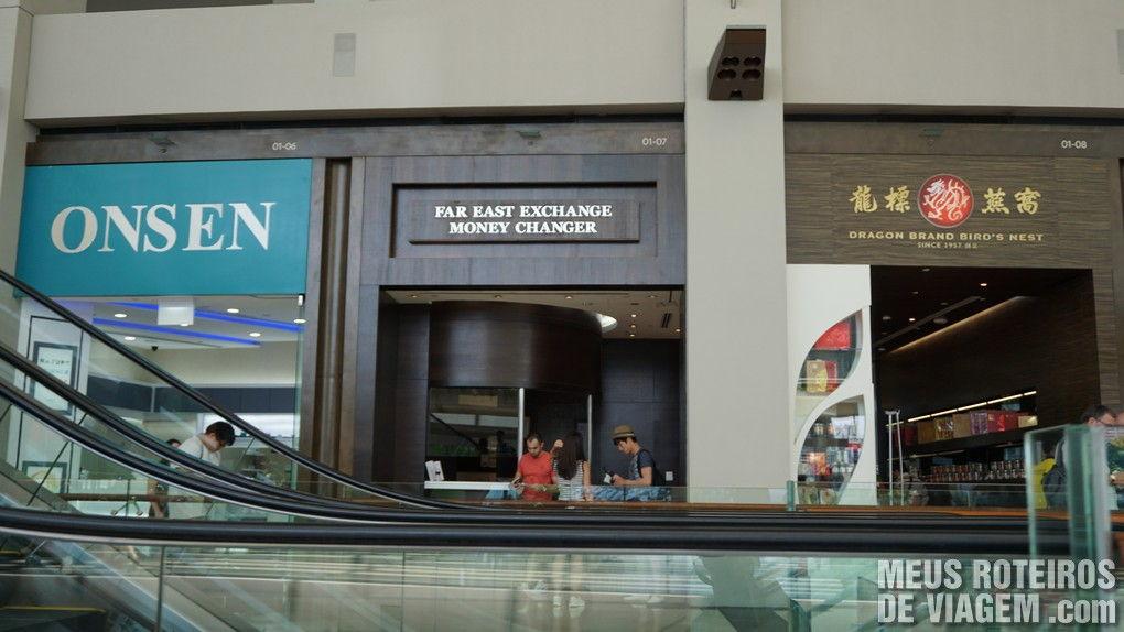 Casa de Câmbio Far East Exchange no The Shoppes - Cingapura