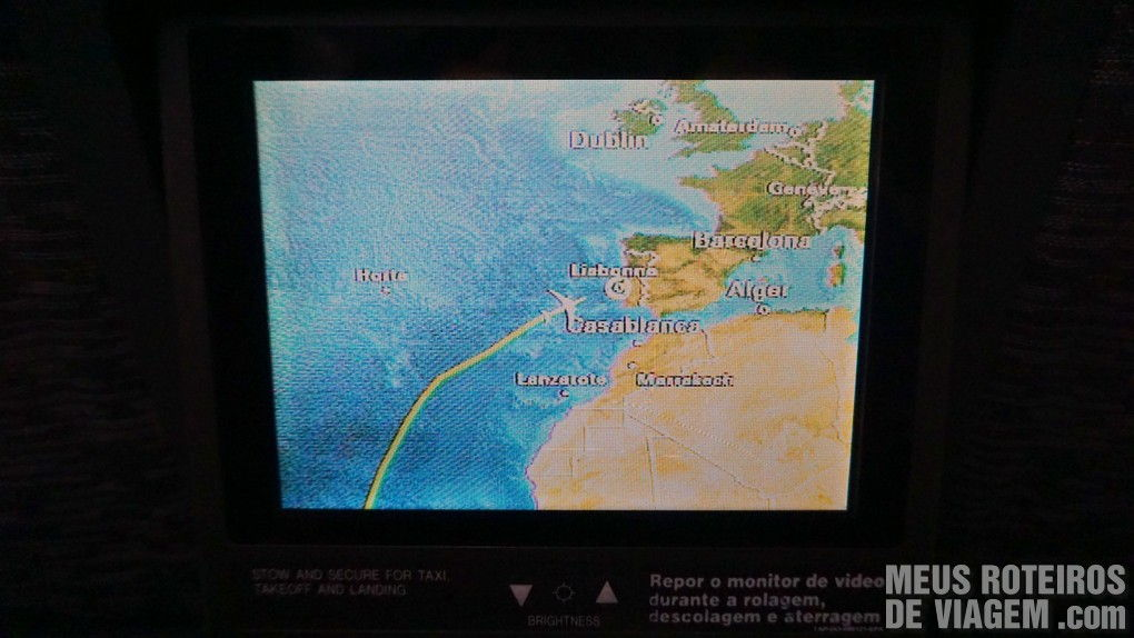 Traçado do voo entre São Paulo e Lisboa - TAP Portugal