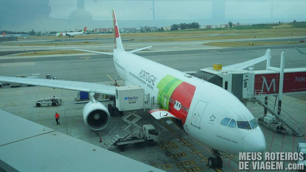 Avião da TAP no Aeroporto de Lisboa