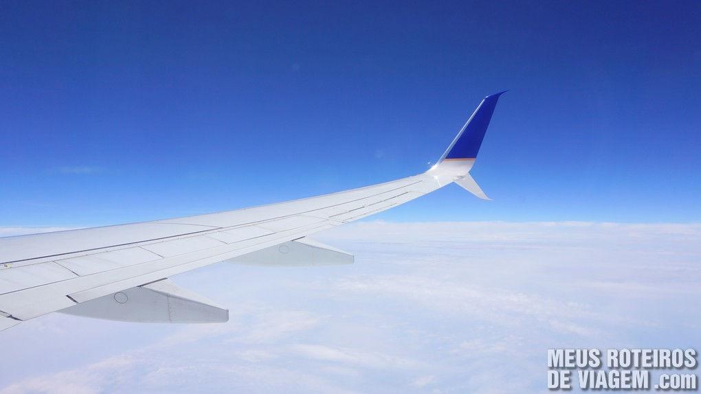 Vista da janela durante o voo para o Panamá - Copa Airlines