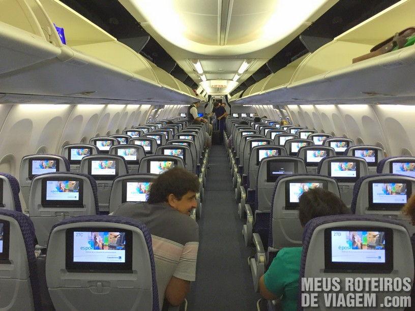Interior do Boeing 737-800 da Copa Airlines