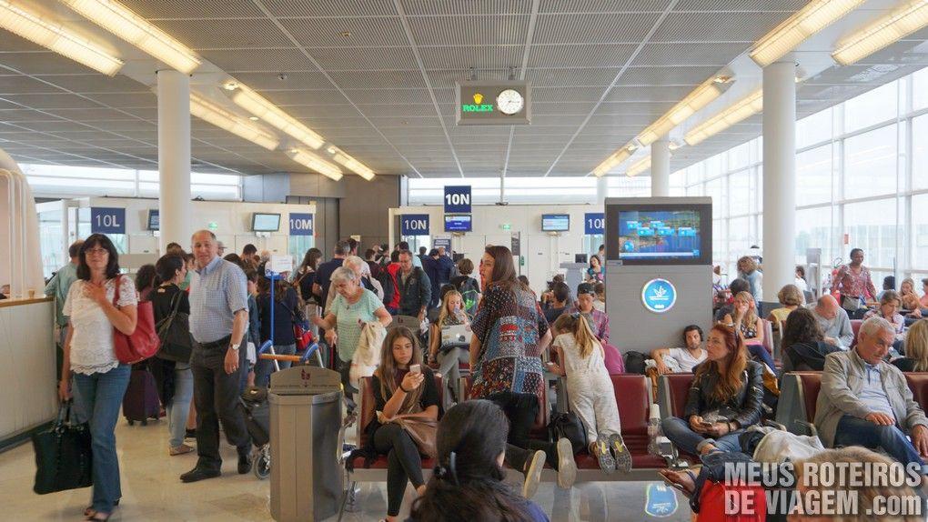 Sala de embarque do Terminal Ouest - Aeroporto de Paris-Orly