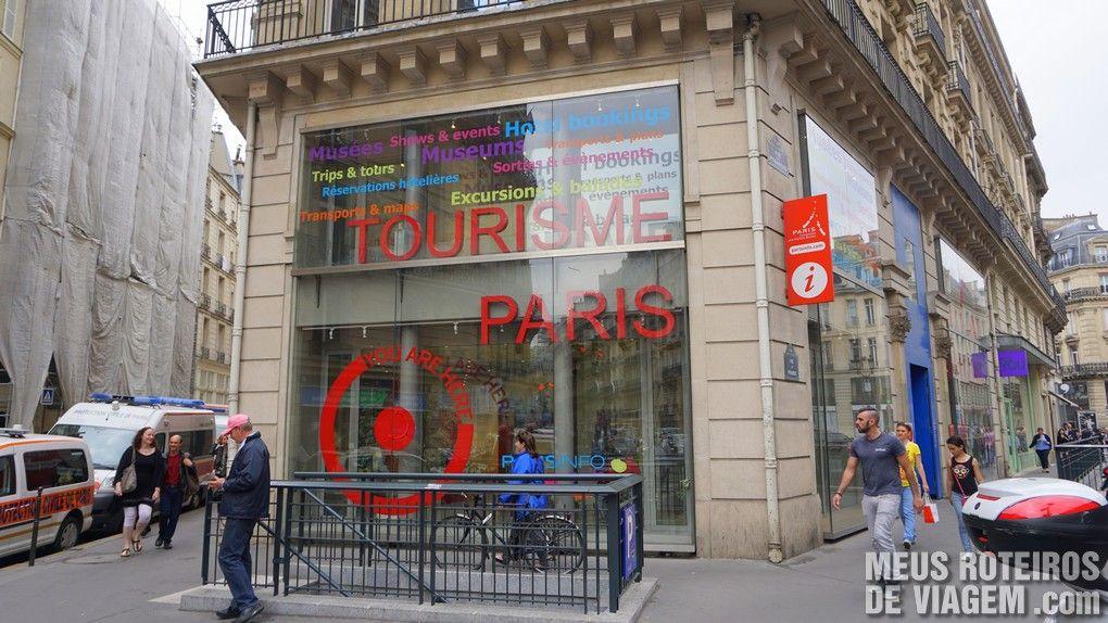 Loja de informações turísitocas do Tourisme Paris