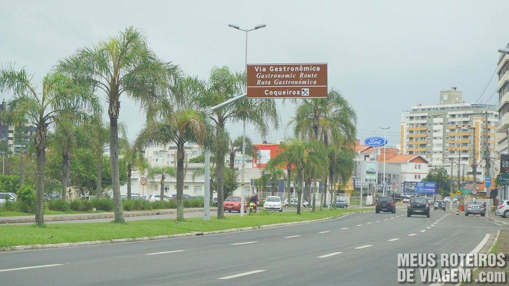 Início da Via Gastronômica de Coqueiros - Florianópolis