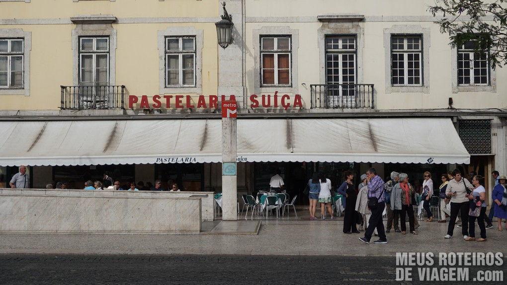 Pastelaria Suiça na Praça Dom Pedro IV - Lisboa, Portugal