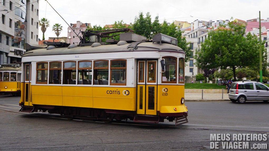 Bonde 28 na Praça Martim Moniz - Lisboa