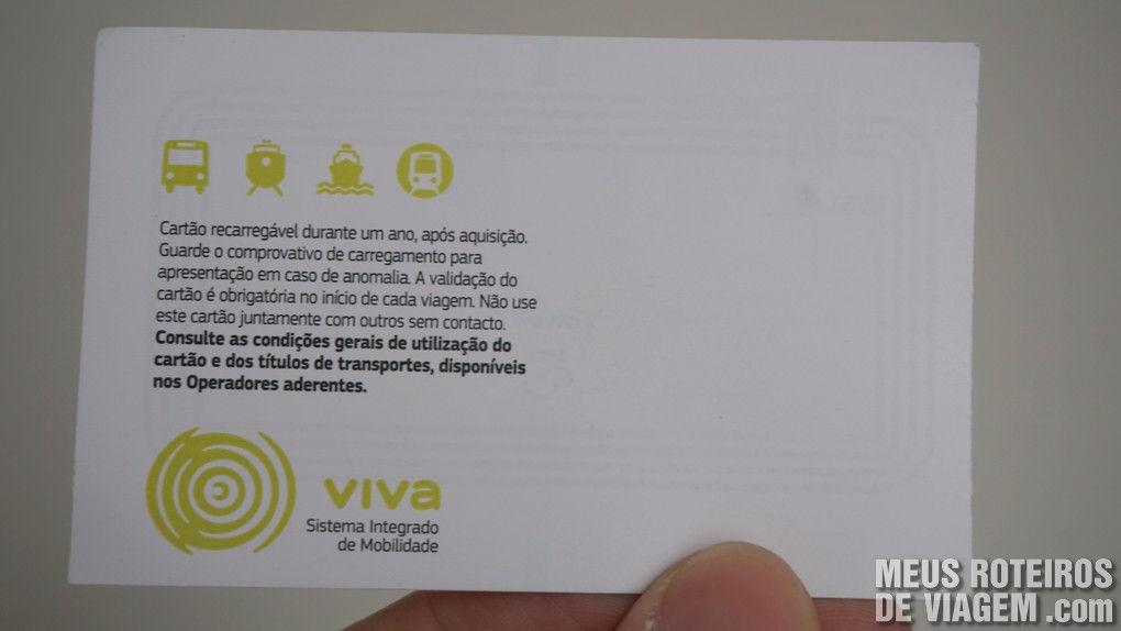 Cartão recarregável Viva Viagem - Lisboa