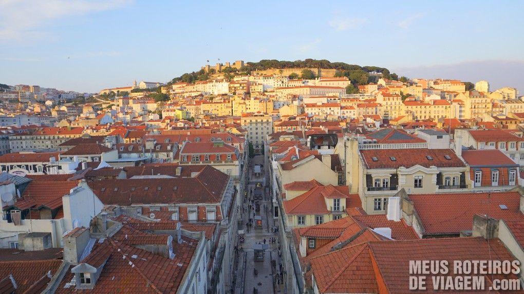 Vista panorâmica do alto do Elevador de Santa Justa - Lisboa