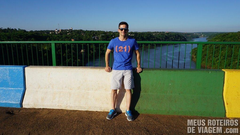 Divisa Brasil-Argentina em Foz do Iguaçú