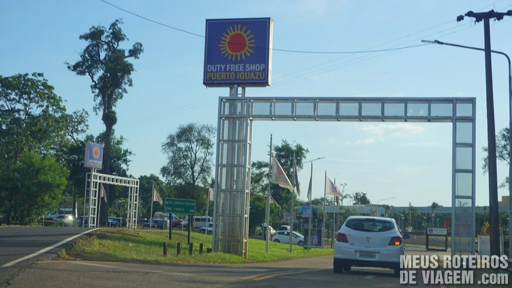 Entrada do Duty Free de Puerto Iguazu