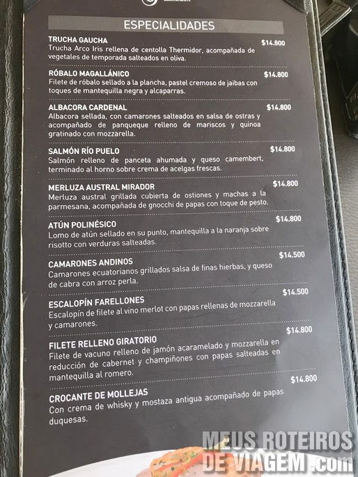 Restaurante Giratório - Santiago, Chile