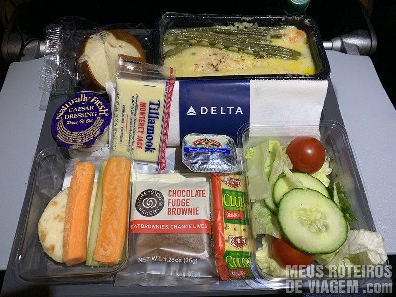 Jantar na Delta Airlines