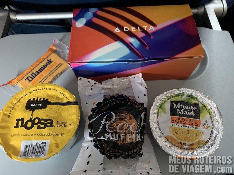 Café da manhã na Delta Airlines
