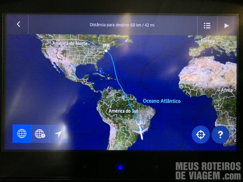 Mapa do voo da Delta Airlines