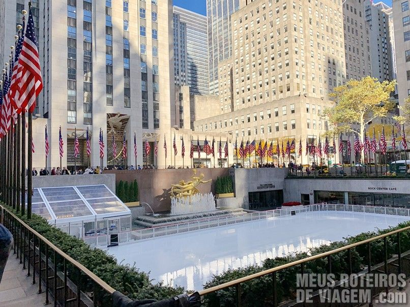 Pista de patinação do Rockefeller Center - Nova York