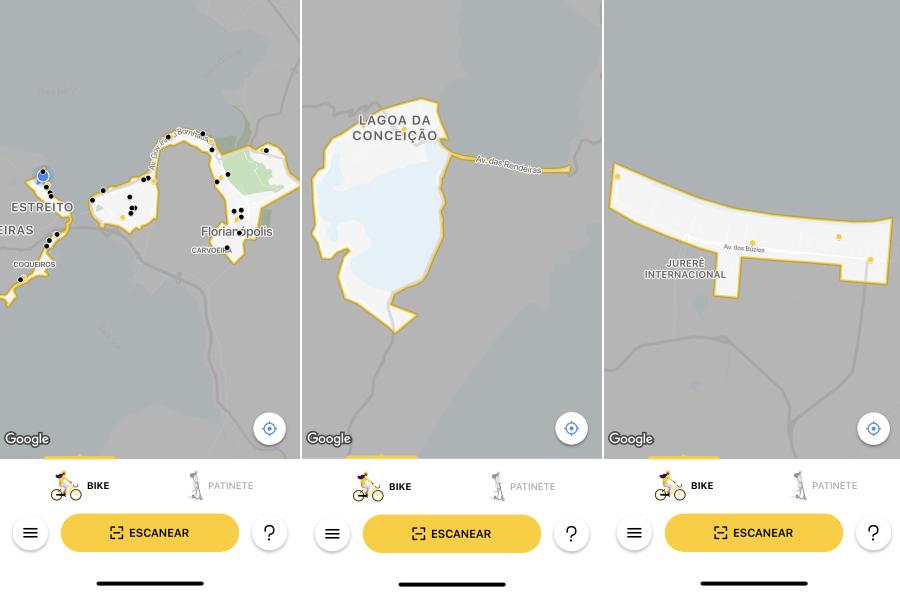 Área de cobertura da Yellow em Floripa